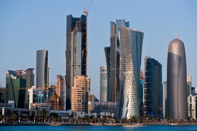 The Qatar skyline