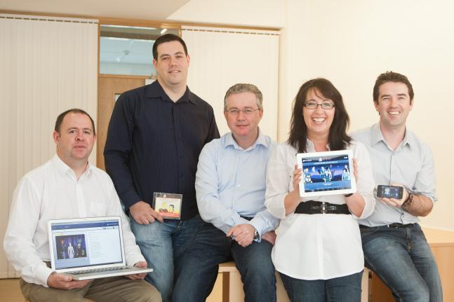 MindConnex management team (L-R): Fergus Connolly, COO; Michael Cordner, CEO; Paul Kerley, non-executive director (former CEO of Norkom Technologies); Fiona McLoughlin, Director of Marketing; Jer McAuliffe, Creative Director.