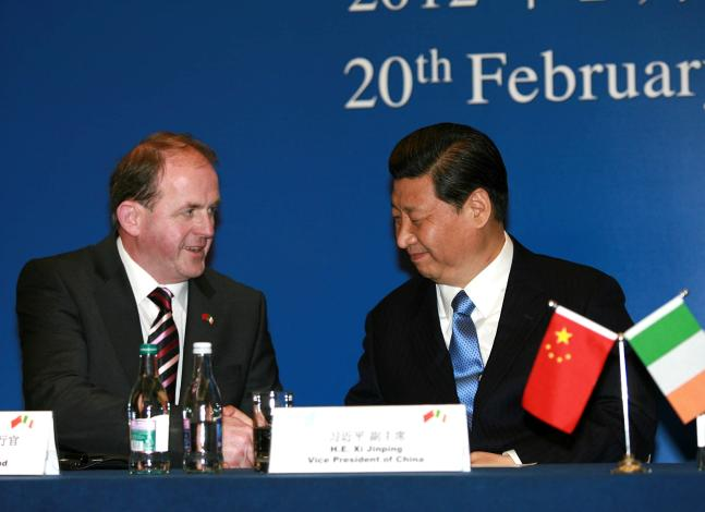 Pictured at Enterprise Ireland's major China Trade and Investment Forum, Frank Ryan, CEO, Enterprise Ireland and China's Vice-President Xi Jinping as part of Vice-President Xi's official visit to Ireland.