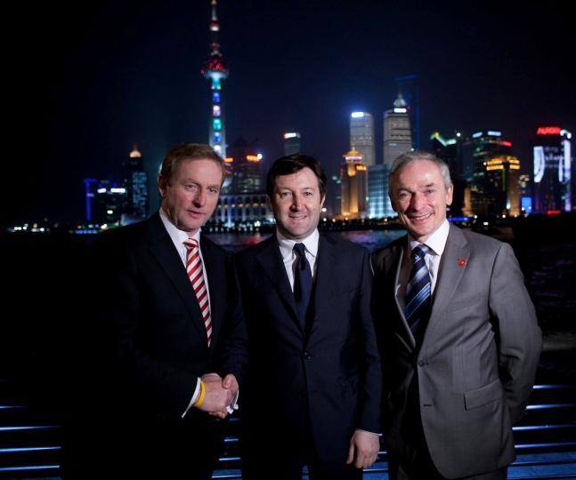 Taoiseach Enda Kenny T.D.; Liam Casey CEO of PCH International and Minister Richard Bruton T.D.