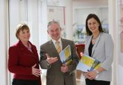 Pictured L-R: Julie Sinnamon, CEO, Enterprise Ireland, Minister for Jobs, Enterprise and Innovation, Richard Bruton TD and Sinead Heaney, Founding Director of the BDO Development Capital Fund